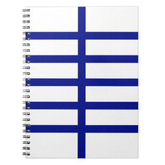 5 bisecó líneas azules libros de apuntes con espiral