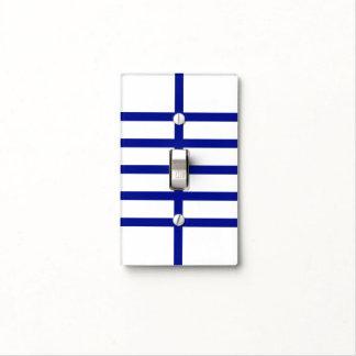 5 bisecó líneas azules placa para interruptor