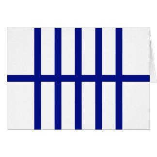 5 bisecó líneas azules tarjeta de felicitación