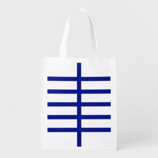 5 bisecó líneas azules bolsas de la compra