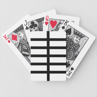 5 bisecó líneas negras baraja cartas de poker