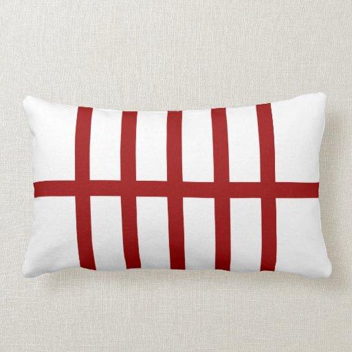 5 bisecó líneas rojas almohadas
