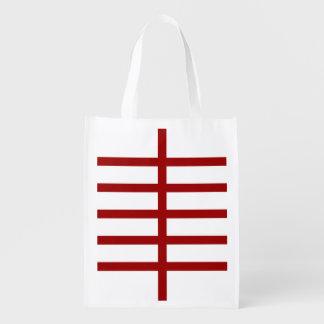 5 bisecó líneas rojas bolsas de la compra