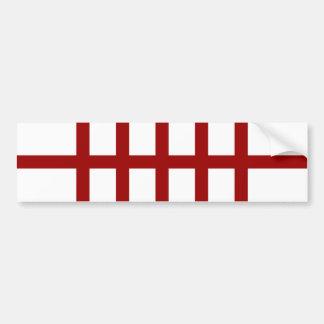 5 bisecó líneas rojas etiqueta de parachoque