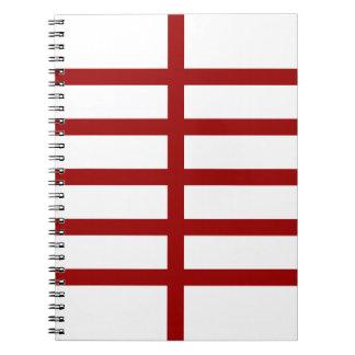 5 bisecó líneas rojas libreta espiral