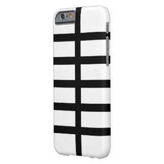 5 Bisected Black Lines Barely There iPhone 6 Case