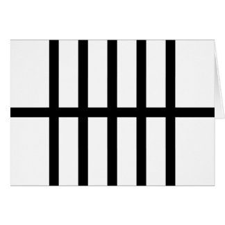 5 Bisected Black Lines Card