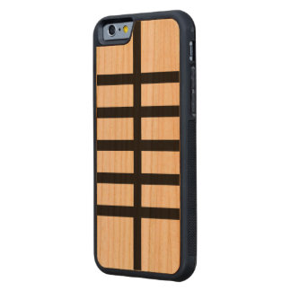 5 Bisected Black Lines Carved® Cherry iPhone 6 Bumper Case