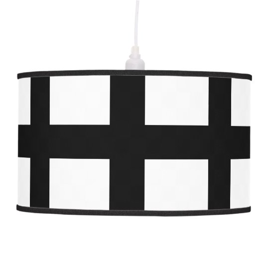 5 Bisected Black Lines Ceiling Lamp