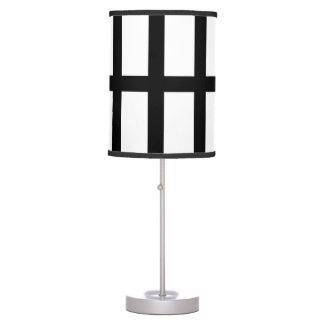 5 Bisected Black Lines Desk Lamp