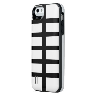 5 Bisected Black Lines iPhone SE/5/5s Battery Case