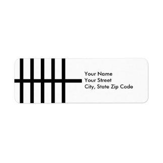 5 Bisected Black Lines Label