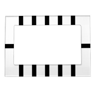5 Bisected Black Lines Magnetic Photo Frame