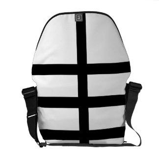 5 Bisected Black Lines Messenger Bag
