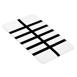 5 Bisected Black Lines Rectangular Photo Magnet