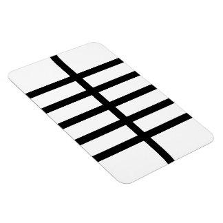 5 Bisected Black Lines Rectangular Photo Magnet