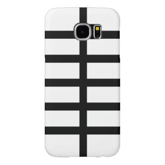 5 Bisected Black Lines Samsung Galaxy S6 Case