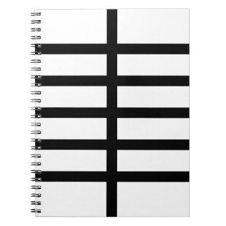 5 Bisected Black Lines Spiral Notebook