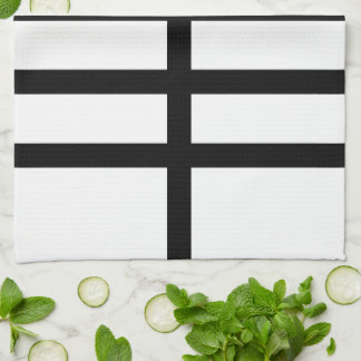 5 Bisected Black Lines Towels