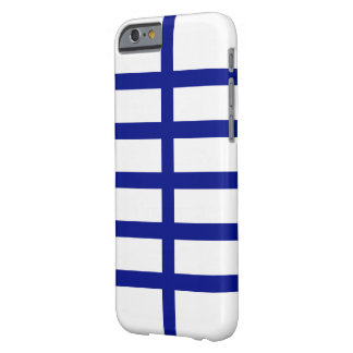5 Bisected Blue Lines Barely There iPhone 6 Case