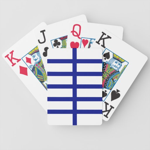 5 Bisected Blue Lines Bicycle Card Deck