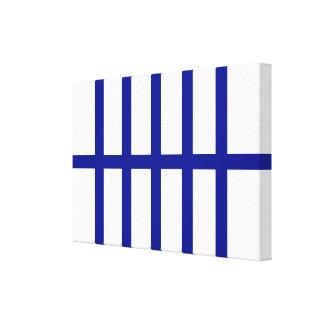5 Bisected Blue Lines Canvas Prints