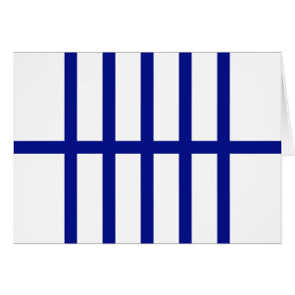 5 Bisected Blue Lines Card