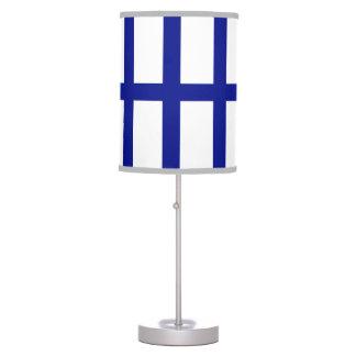 5 Bisected Blue Lines Desk Lamp