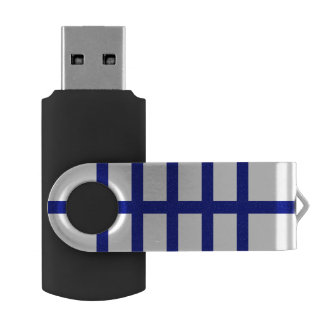 5 Bisected Blue Lines Flash Drive