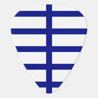 5 Bisected Blue Lines Guitar Pick