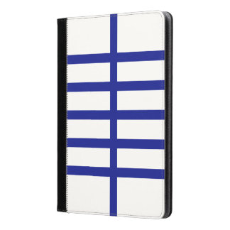 5 Bisected Blue Lines iPad Air Case