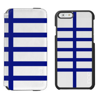 5 Bisected Blue Lines iPhone 6/6s Wallet Case