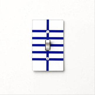 5 Bisected Blue Lines Light Switch Cover