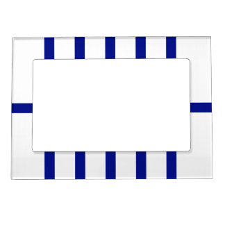 5 Bisected Blue Lines Magnetic Picture Frame