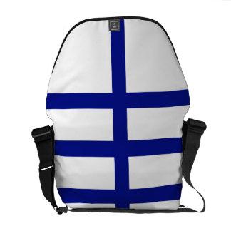 5 Bisected Blue Lines Messenger Bag