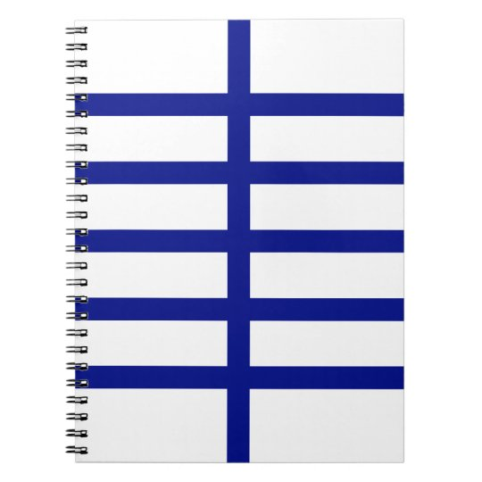 5 Bisected Blue Lines Notebook