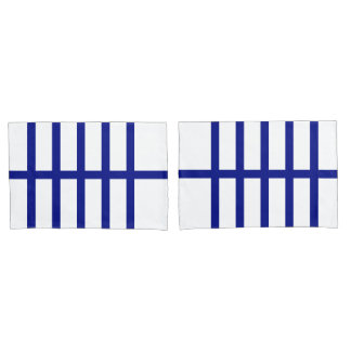5 Bisected Blue Lines Pillow Case