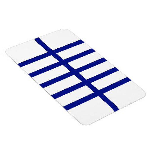 5 Bisected Blue Lines Rectangle Magnets