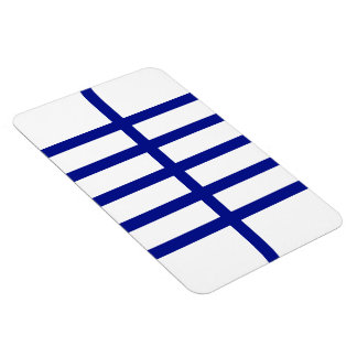 5 Bisected Blue Lines Rectangular Photo Magnet