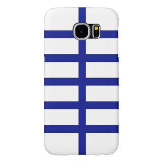 5 Bisected Blue Lines Samsung Galaxy S6 Case