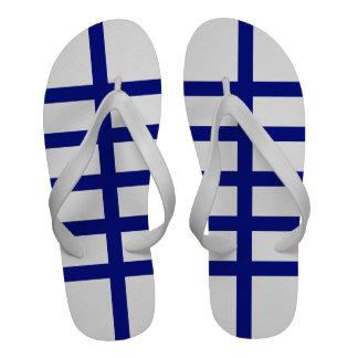 5 Bisected Blue Lines Sandals