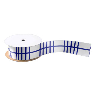 5 Bisected Blue Lines Satin Ribbon