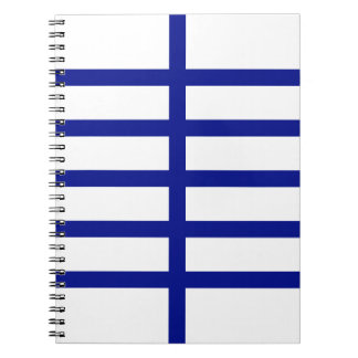 5 Bisected Blue Lines Spiral Notebooks