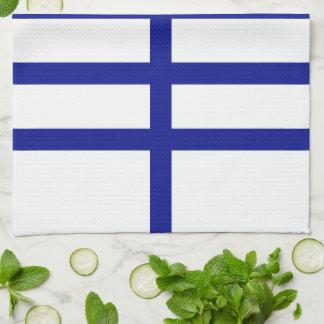 5 Bisected Blue Lines Towel