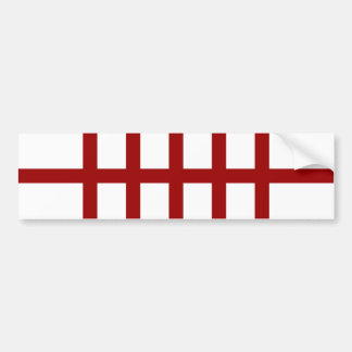 5 Bisected Red Lines Bumper Sticker