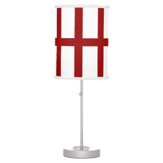 5 Bisected Red Lines Desk Lamp