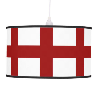 5 Bisected Red Lines Hanging Lamp