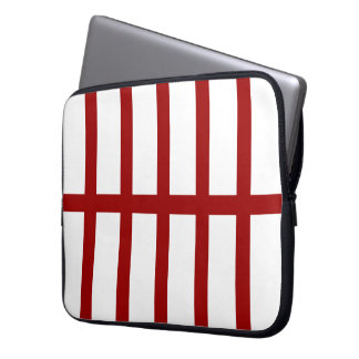 5 Bisected Red Lines Laptop Sleeve
