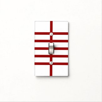 5 Bisected Red Lines Light Switch Cover
