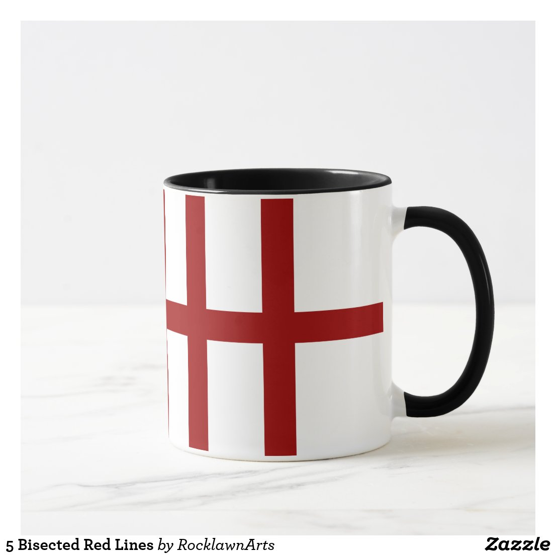 5 Bisected Red Lines Mug